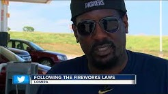 Where are fireworks legal in Wisconsin?