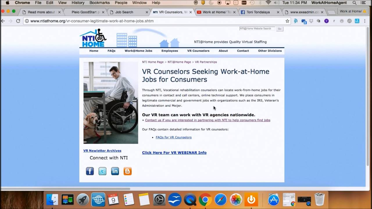 Work@Home For Disabled Americans - YouTube