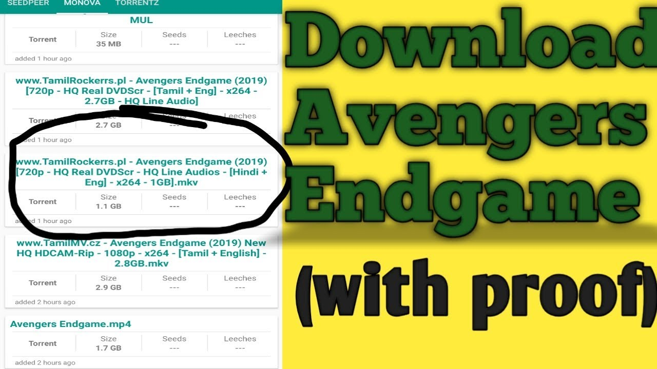 Download How to Download Avengers Endgame - Part 3 full Movie in HD (100% proof)