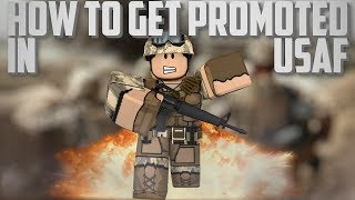 ROBLOX USAF | HOW TO GET PROMOTED (PVT-PFC)