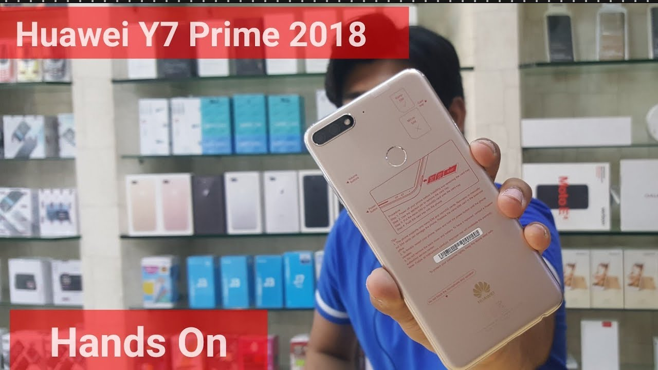 Huawei Y7 Prime 2018 Gold   First Look Y7 prime 2018