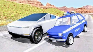 Crazy Police Chases #105 - BeamNG Drive Crashes