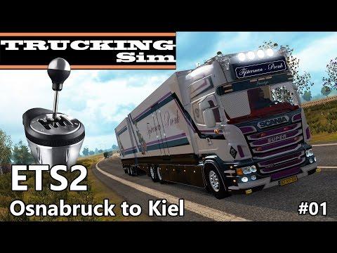 ETS2 #01 - Scania R500 Tijsterman - TH8A My New H-Shifter Range-Splitter