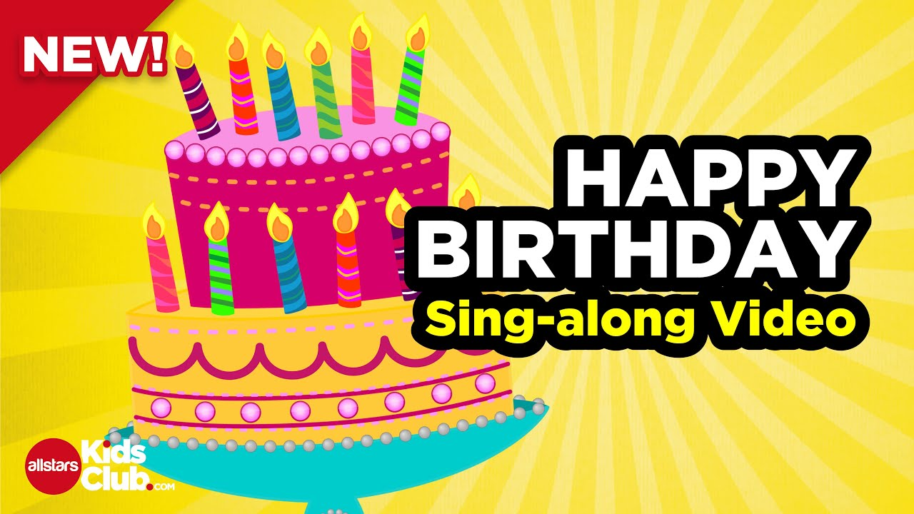 HAPPY BIRTHDAY TO YOU | Sing-along Karaoke Song (Happy