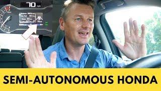 Honda Sensing Test - 100 miles semi-autonomous in a Honda Pilot   Honda Lane Keep Assist