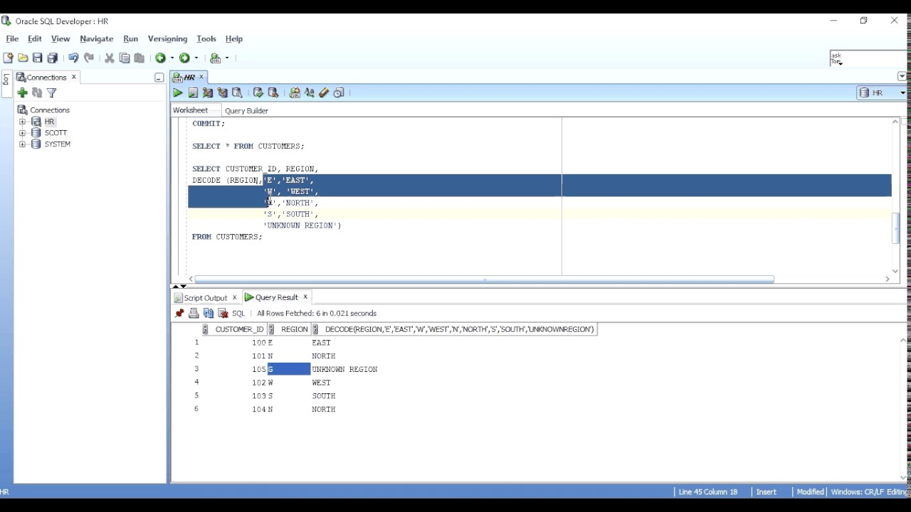 Decode Function In Oracle Sql Youtube