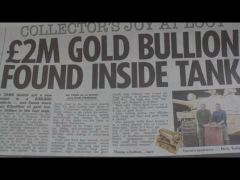 2 MILLION IRAQI GOLD BULLION FOUND INSIDE GULF WAR SURPLUS E BAY UK  ARMY TANK