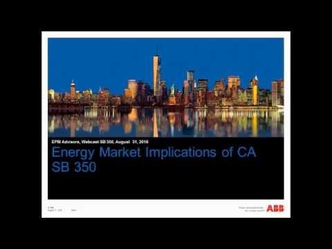 Energy Market Implications of California Senate Bill 350