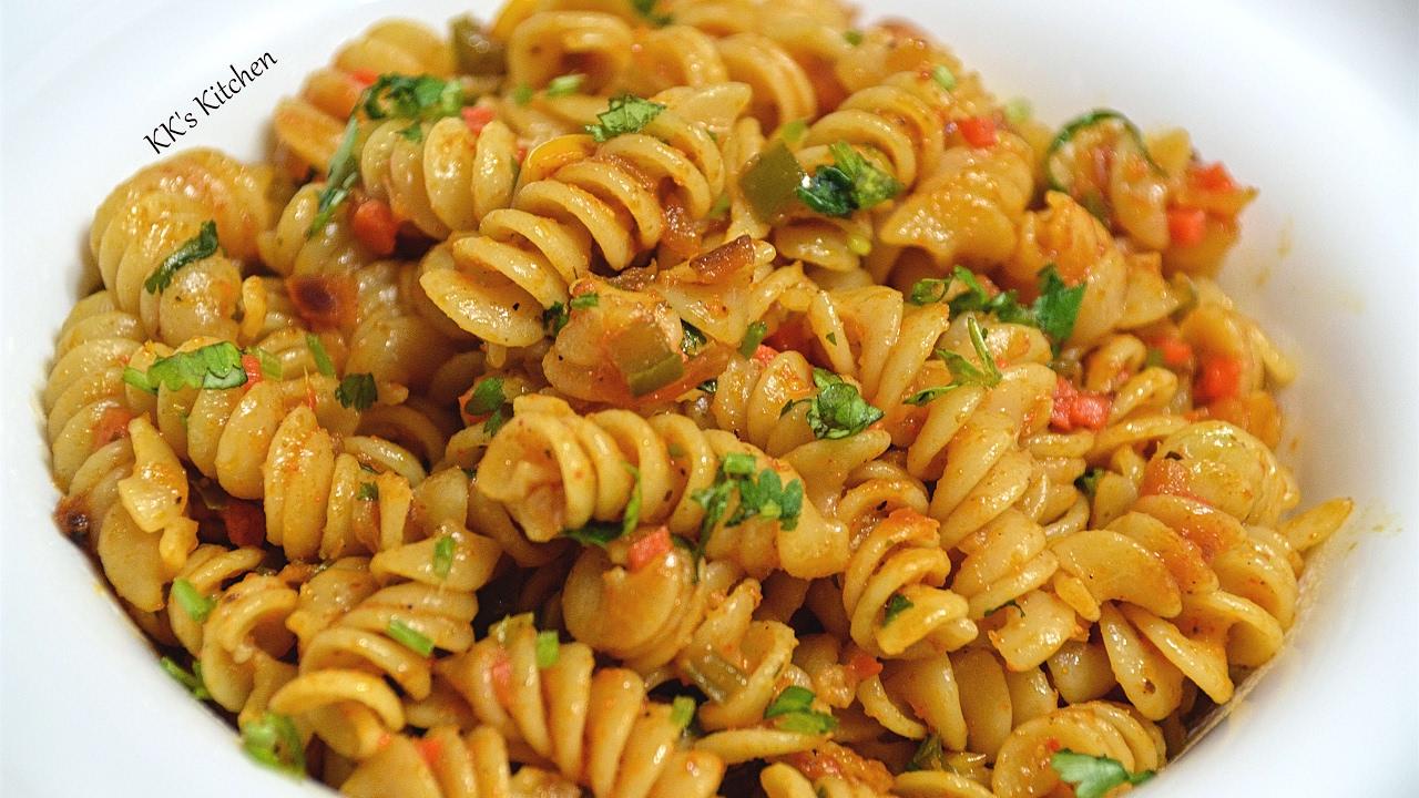 Indian Style Pasta Recipe Spicy Masala Pasta Quick