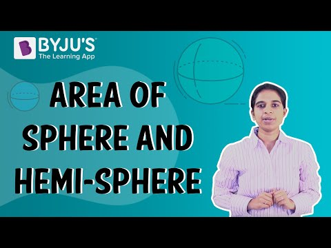 Area of Hemisphere - BYJU'S