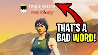 "I played Fortnite with an ""inappropriate name"" on my account! (hilarious reactions)"