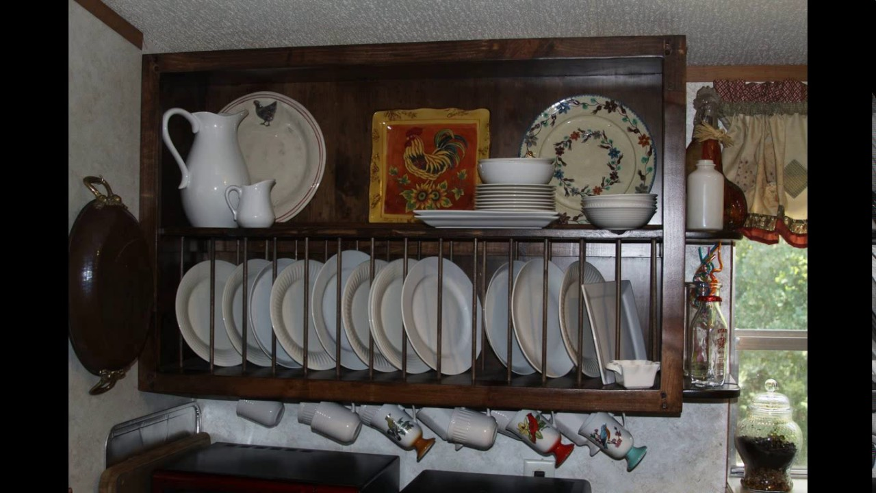 Kitchen Cabinet Design Plate Rack