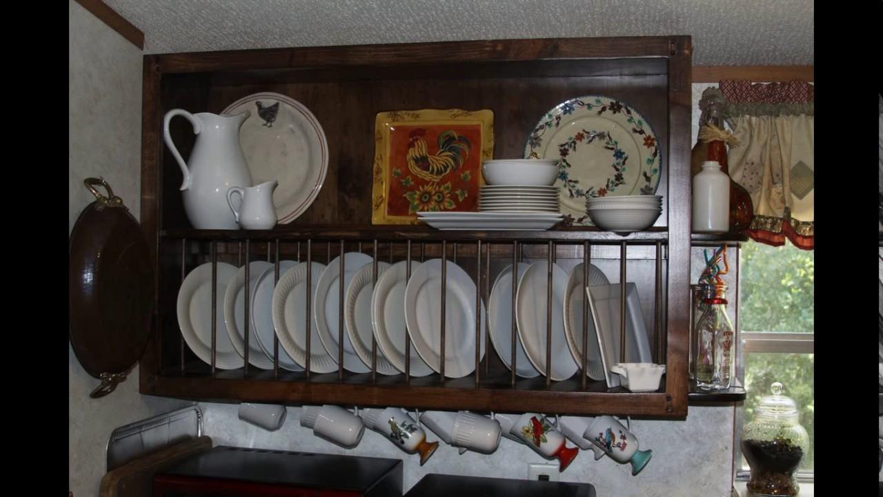Kitchen Cabinet Design Plate Rack Youtube