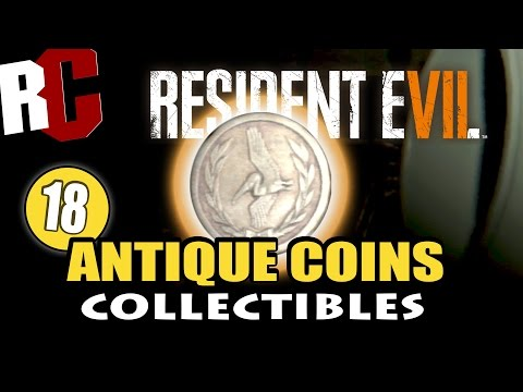 Resident Evil 7 - All 18 Antique Coin Locations (Collectibles) Pelicans in Your Pocket Achievement