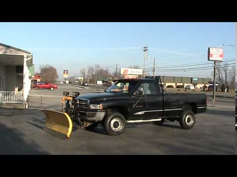 1997 Dodge Ram 2500 Cummins Diesel with Fisher Snow Plow LOW MILES - YouTube
