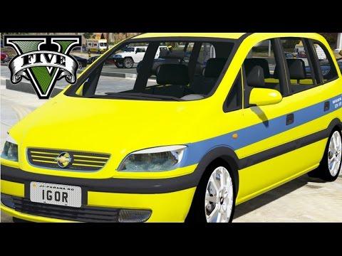 GTA V - VIDA REAL : Taxista #18 /  Zafira Taxi Rio De Janeiro