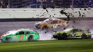 Repeat youtube video Patrick, Menard in 12-car wreck