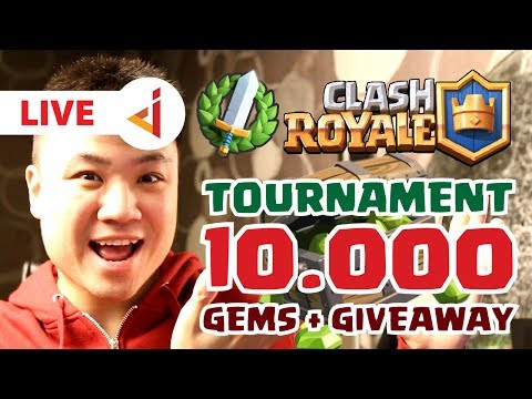 #SALIPLEVEL - 10.000 GEMS TOURNAMENT + GIVEAWAY !! - Clash Royale [Indonesia] - LIVE