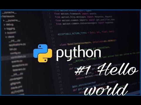 Python Programming Tutorial - 3 - First Program Hello World thumbnail