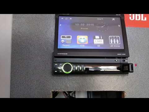 Автомагнитола Skylor Mdd-7000 с выездным экраном, обзор и включение