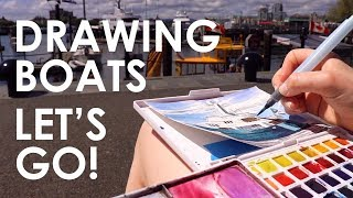 Drawing Boats At The Dock | LET