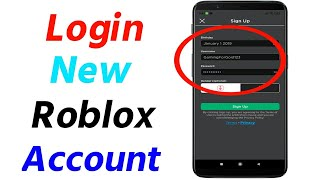 How to Log iฑ to Roblox in Mobile | Login New Roblox Account