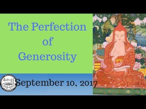 How begin the development of generosity, September 10 2017