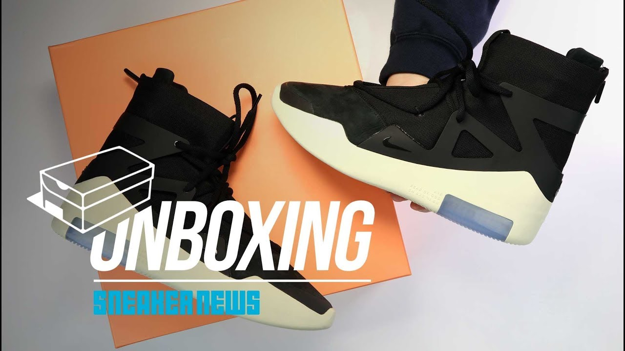 Nike Air Fear Of God 1 Unboxing Review Youtube