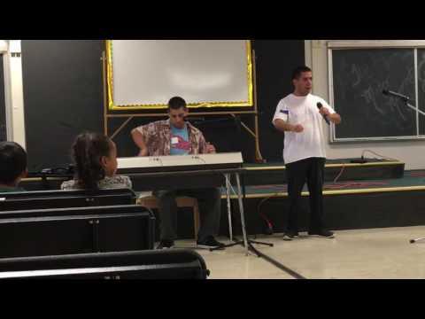 Nicky & Thomas sing Teddy Bear, March 2017, Las Posas Elementary School, Camarillo