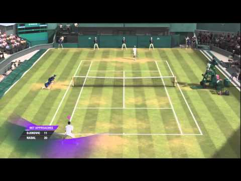 Djokovic vs Nadal - Grand Slam Tennis 2 gameplay on PS3
