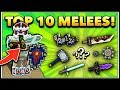 TOP 10 MELEE WEAPONS! | Pixel Gun 3D (Special)
