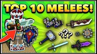 TOP 10 MELEE WEAPONS! | Pixel Gun 3D (Special)