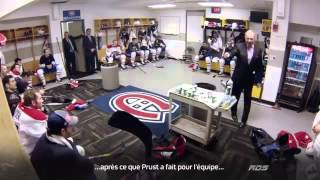 Michel Therrien speech in the second intermission vs Boston Bruins