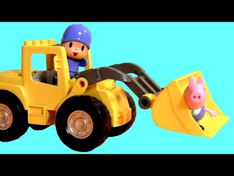 pig big loader mega construction blocks nickelodeon la excavadora