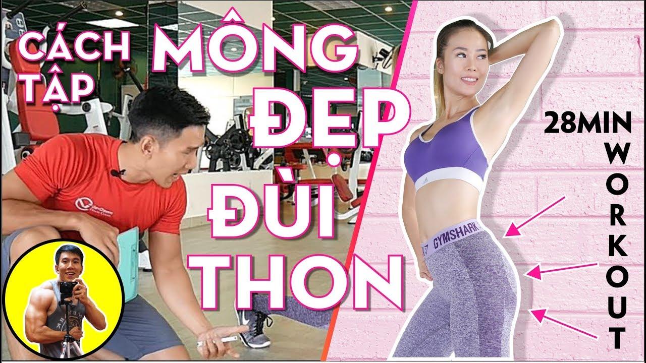 Cách Tập Mông Đẹp Đùi Thon | 28 Min Workout | HLV Cá Nhân Thể Hình Ryan Long Fitness
