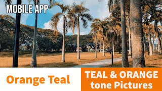Cover images TEAL & ORANGE tone with Mobile Apps   Orange Teal App   Create Orange Look Picture for Social Media
