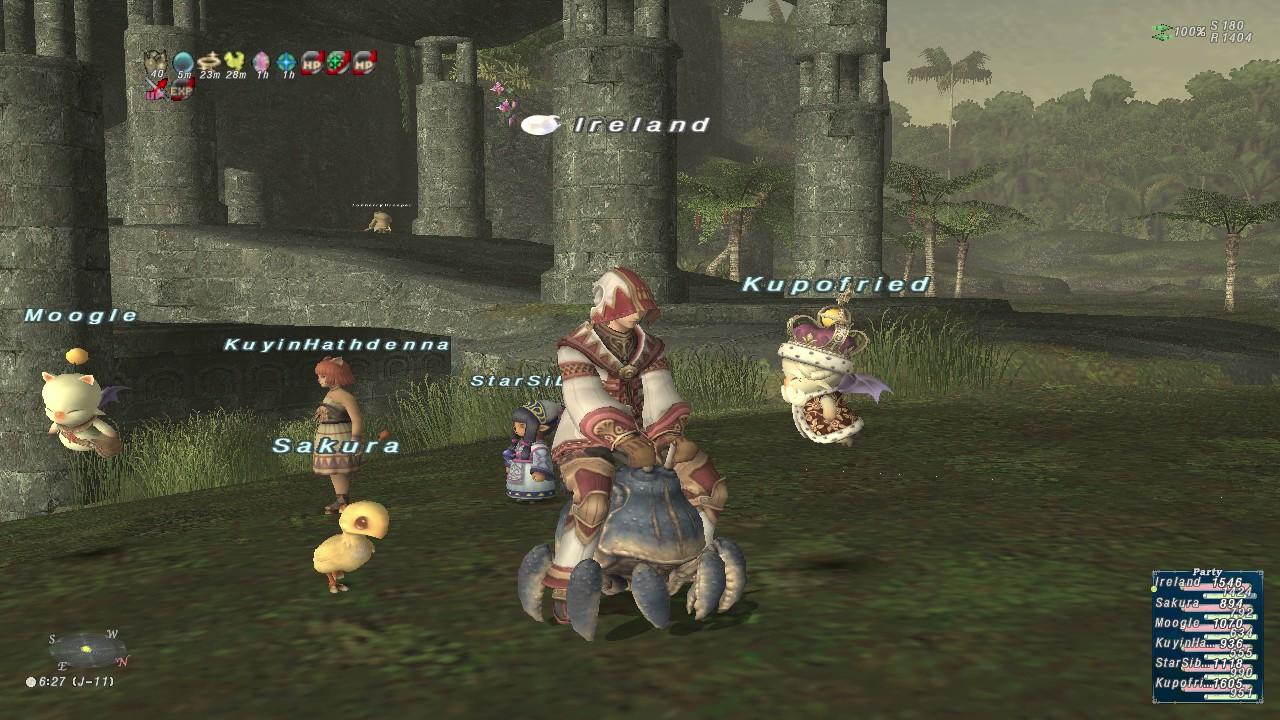Final Fantasy Xi Ffxi Whm99blm49 Whm White Mage Ireland Yhoator Jungle Crab Mount 091016
