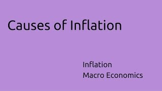 Causes of Inflation | Inflation | CA CPT | CS & CMA Foundation  | Class 11 | Class 12
