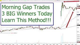 Morning Gap Trades - 3 Big Wins - Learn This Strategy