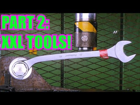 Testing Huge Wrench and Other Tools with 150 Ton Hydraulic Press