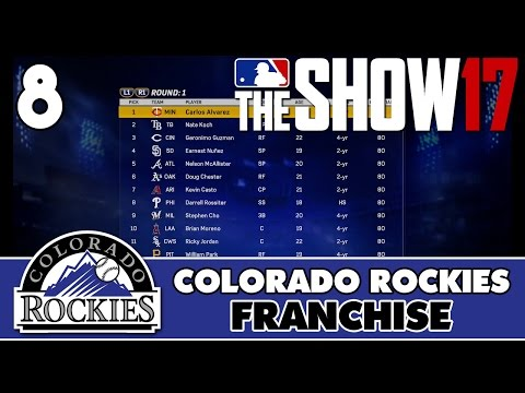 "MLB The Show 17 Rockies Franchise ep. 8 - ""2017 MLB First-Year Player Draft"""