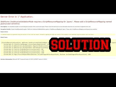 Server Error in '/' Application Solution Validation control