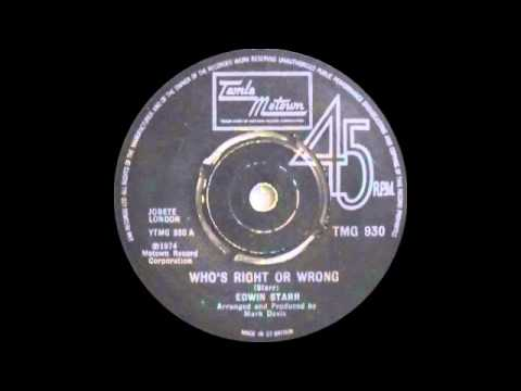 Edwin Starr - Who's Right Or Wrong