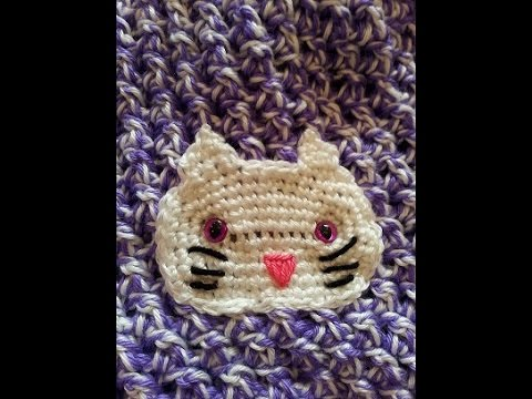 Crochet Easy Simple Cute Kitty Cat Applique Diy Tutorial Youtube