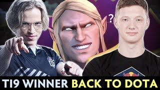 TI9 WINNER BACK to Dota after vacation — Topson Invoker
