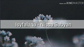 Isyfalana - Nissa Sabyan