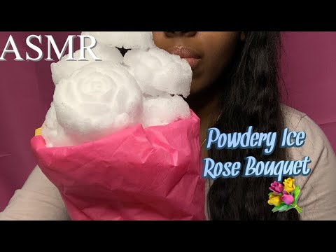 ASMR Powdery Ice Rose Bouquet