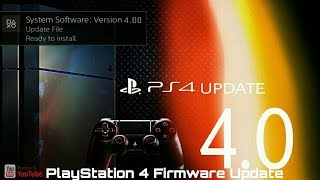 let s have a look at ps4 update 4 0
