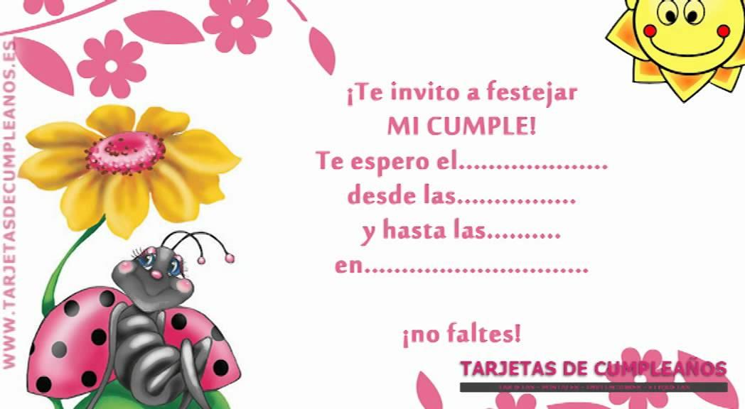 Tarjetas de cumpleaños Mariquita y flor YouTube