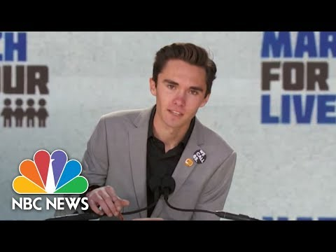 David Hogg Singles Out Politicians At March For Our Lives Rally: 'Get Your Resumes Ready' | NBC News